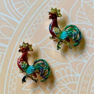Vintage Rooster Pins / Brooches